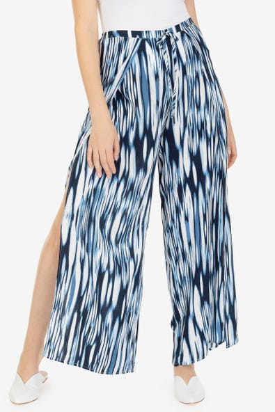 High waist flowy wide leg pants