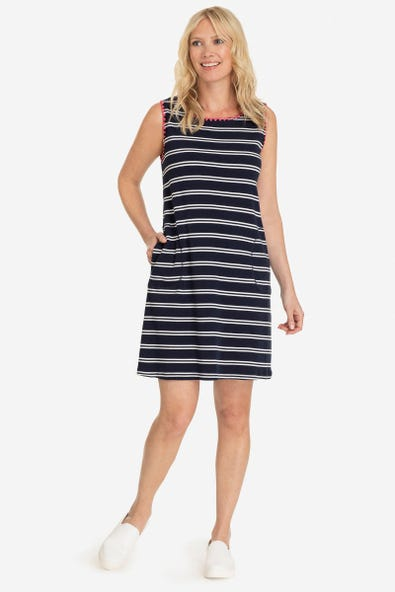RIBBED DRESS WITH POCKETS