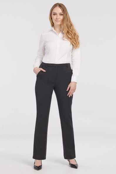 HIGH RISE SLIM BOOT TROUSERS