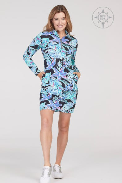UPF 50+  GOLF DRESS WITH  POCKETS AND SHORTS
