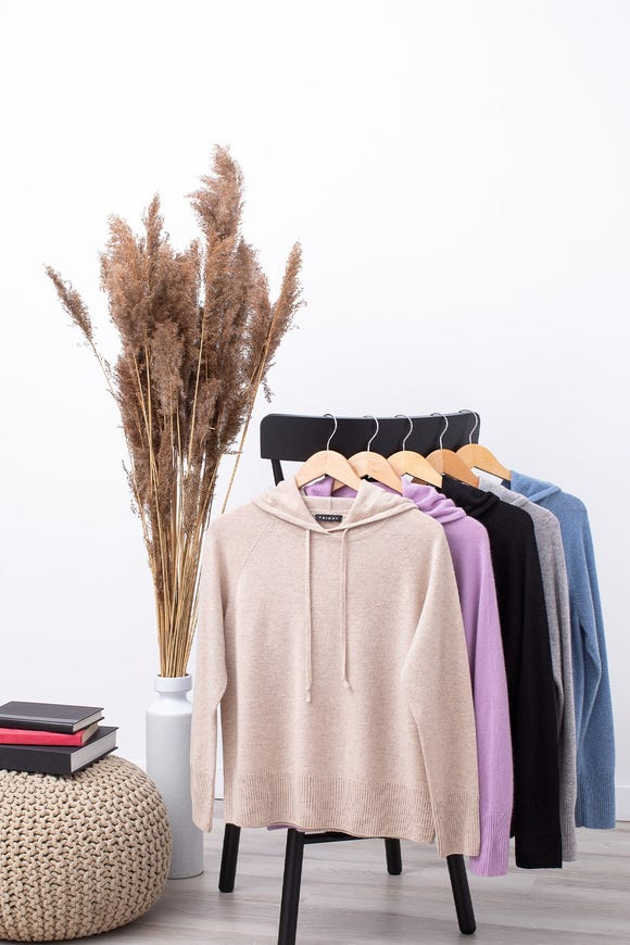 HOODED CASHMERE SWEATER