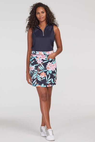 ACTIVE SKORT WITH POCKETS AND ELASTIC WAIST
