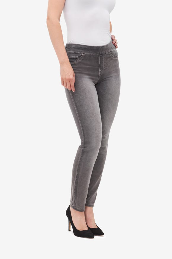 Pull-On Knit Denim Jegging