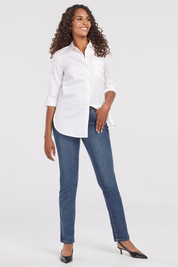 PETITE  DREAM JEAN FIVE-POCKET STRAIGHT