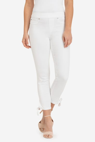 KNOT-DETAIL CROPPED PANT