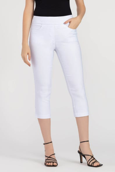 PULL-ON CAPRI PANT WITH BACK DETAIL