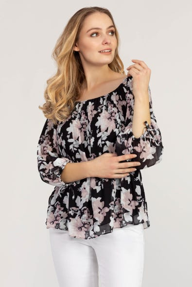ON AND OFF SHOULDER BLOUSE