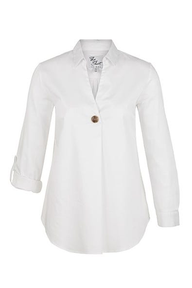 ACCENT BUTTON STRETCH SHIRT
