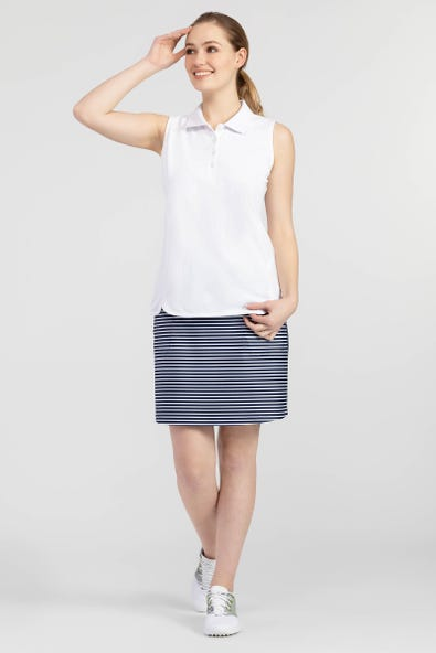 PIQUÉ COTTON SLEEVELESS POLO