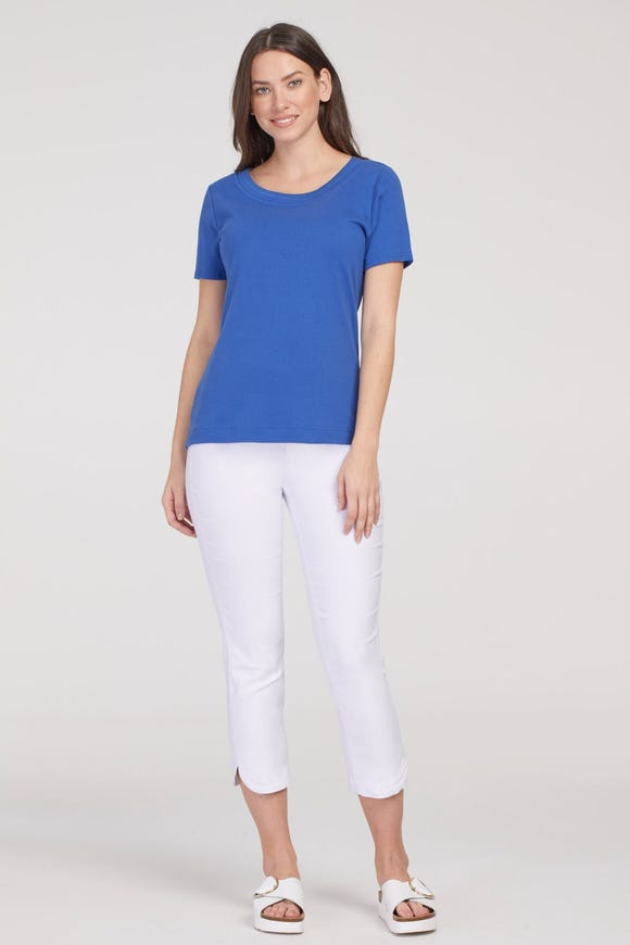 FLATTEN IT® PULL-ON CAPRI WITH TULIP HEM