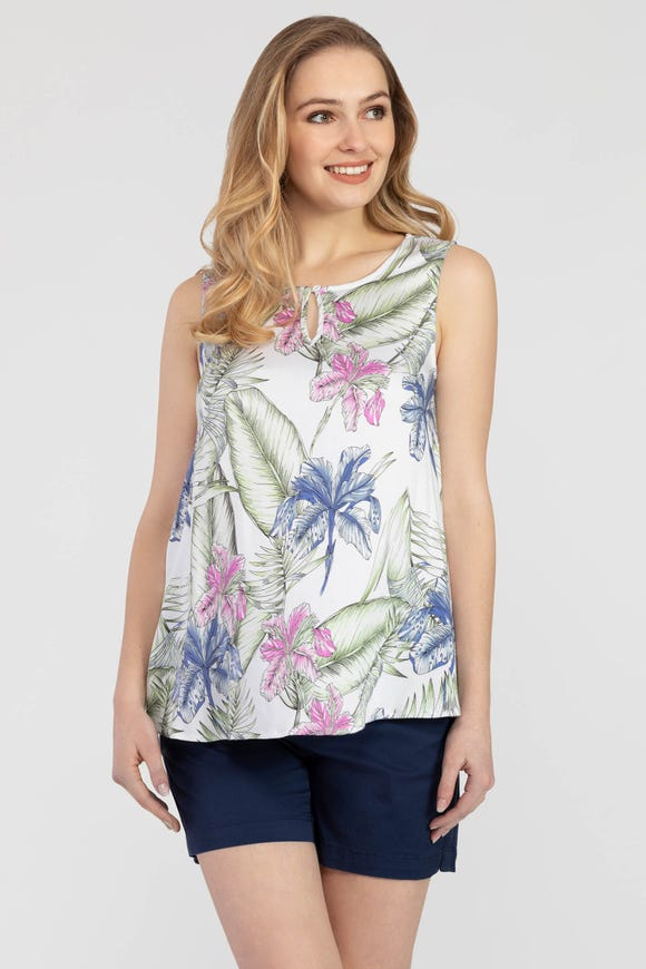 Sleeveless Swing Blouse