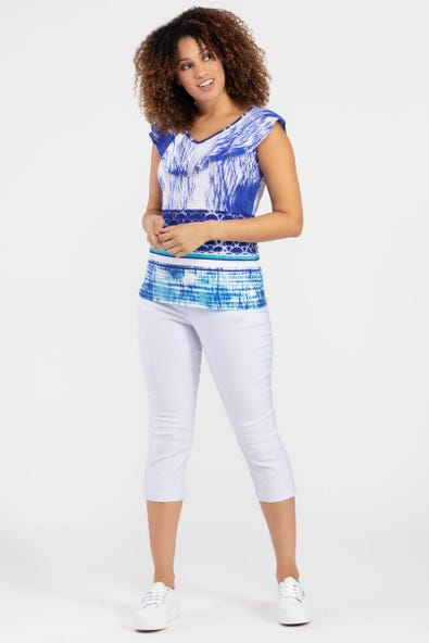 SLEEVELESS TOP WITH FRILL LAYER