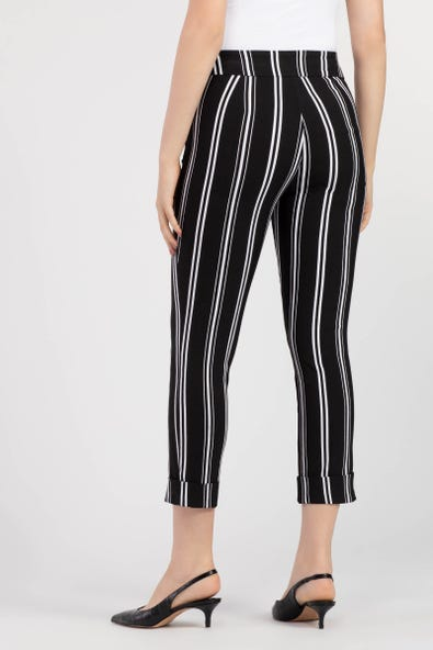 STRIPED WIDE LEG CAPRI