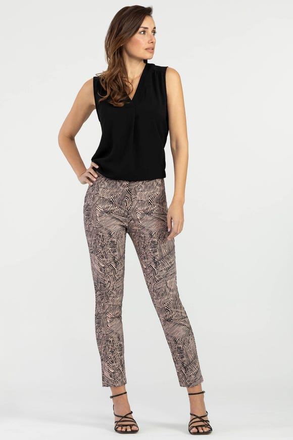 PULL ON  PRINTED ANKLE PANT
