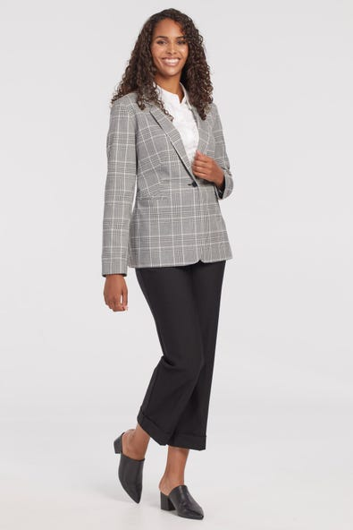 PATTERNED LINED BLAZER