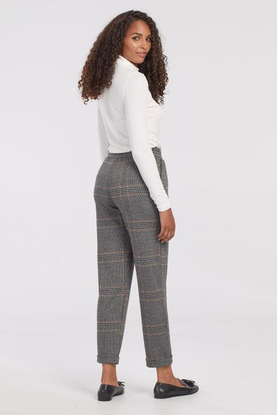 PLAID PANT WITH DRAWSTRING