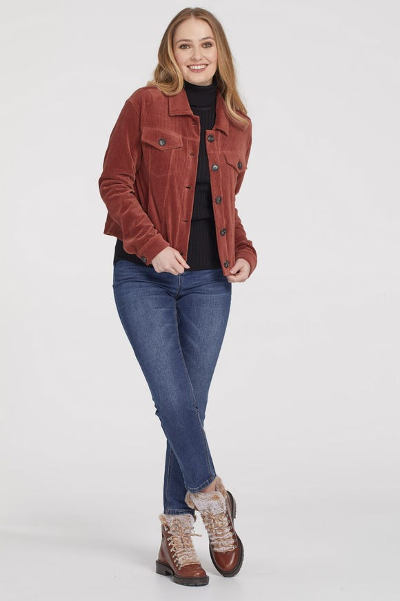 BOXY FIT SOFT CORDUROY JACKET