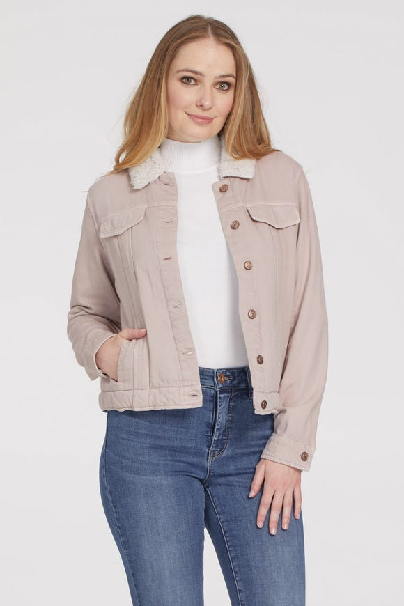 JACKET WITH SHEARLING LINING