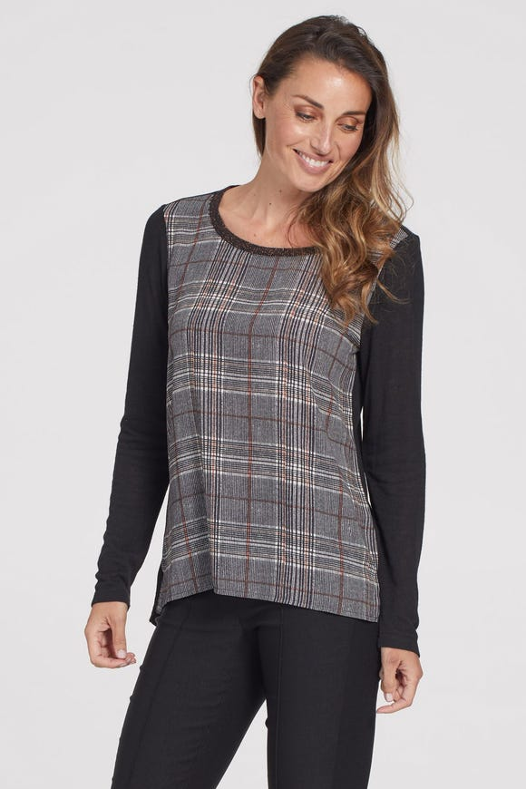PRINTED FRONT TOP WITH SOLID BACK