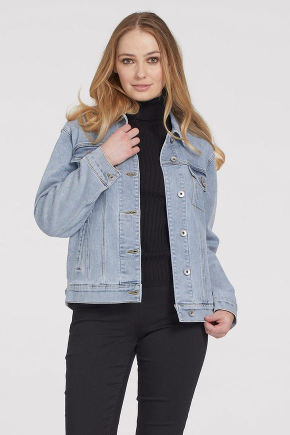 STRETCHY BOYFRIEND JEAN JACKET