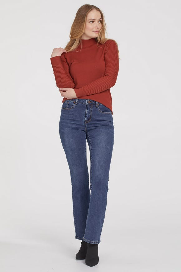AUDREY COMFORT DENIM MICRO FLARED JEANS