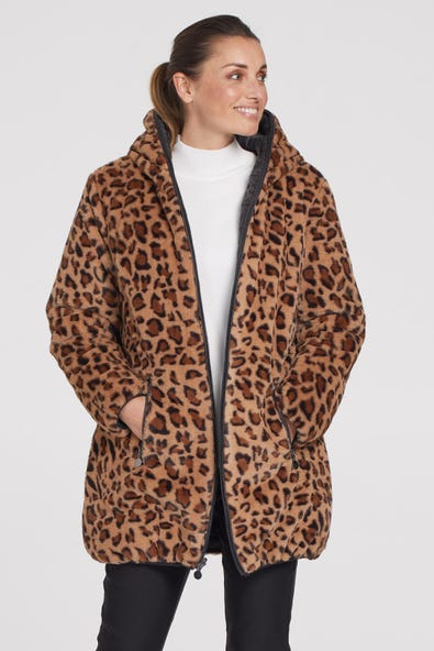 TEDDY LINED REVERSIBLE FUR PUFFER