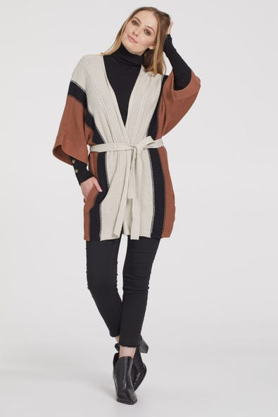 CARDIGAN WITH WAIST BELT