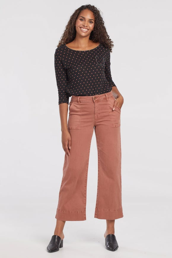 AUDREY WIDE LEG CROP PANTS