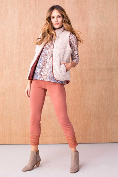 AUDREY PULL ON ANKLE JEGGING