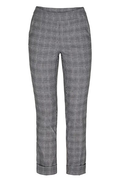 NOVELTY PLAID TROUSER WITH CUFF