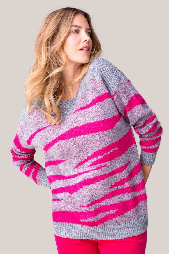 DOUBLE KNIT BOAT NECK SWEATER