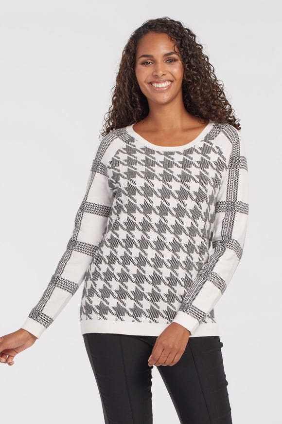 REVERSIBLE RAGLAN SWEATER