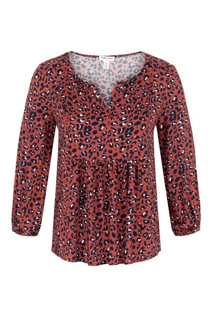 BLOUSE WITH SHIRRING