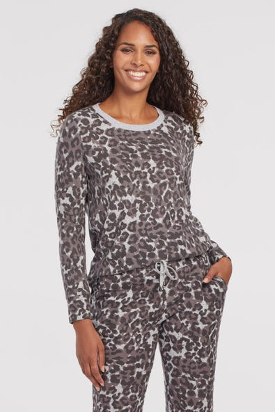 FUZZY SOFT LONG SLEEVE TOP