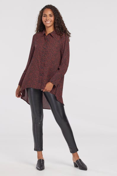 HIGH LOW CREPE BLOUSE