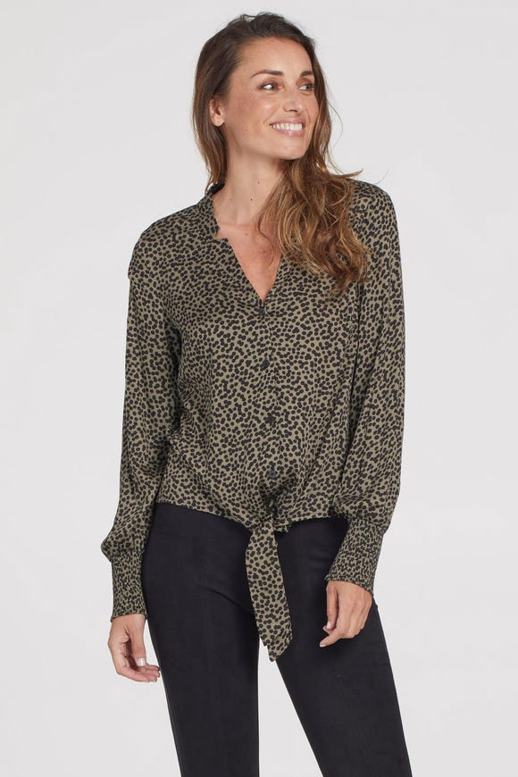 BLOUSE WITH FRONT TIE