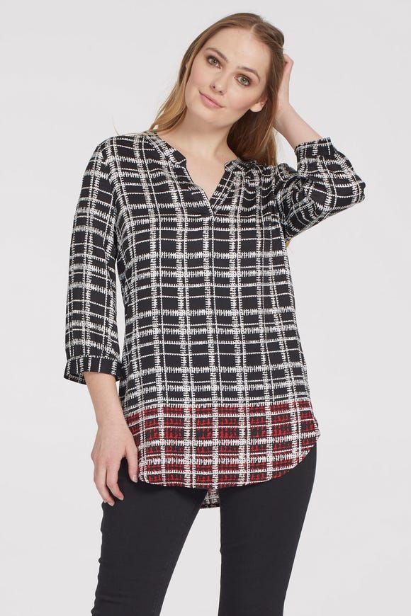 MULTI-PATTERN BLOUSE