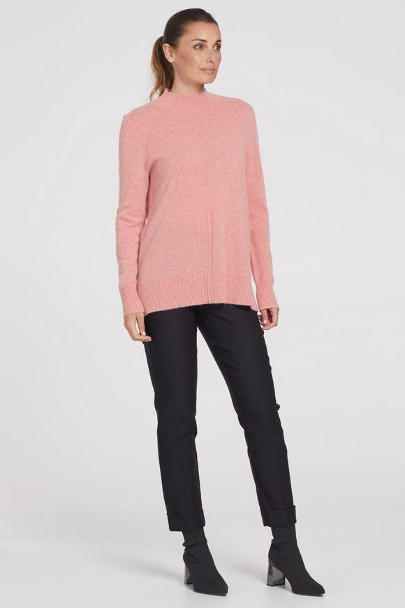 CASHMERE MOCK NECK SWEATER