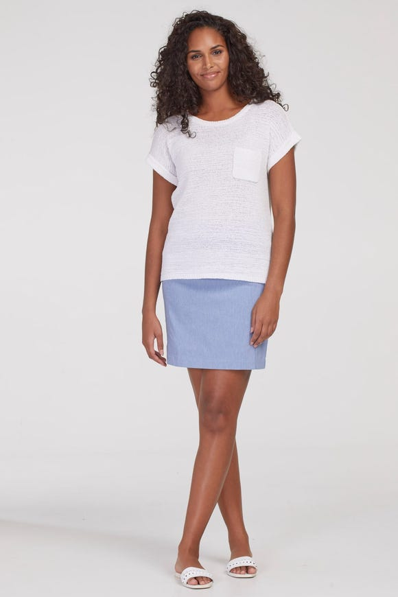 HEATHERED PULL-ON  SKORT