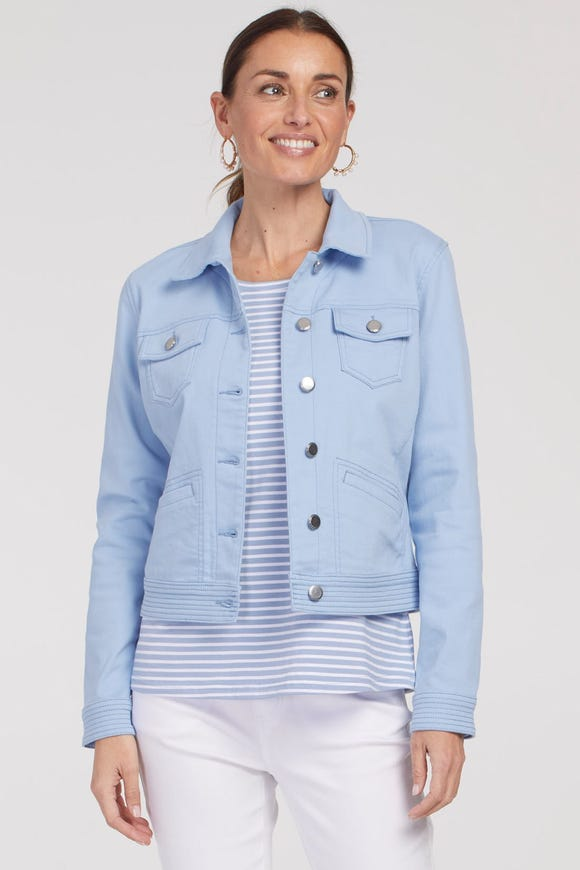 SUPER STRETCH JACKET WITH TOPSTITCH DETAIL
