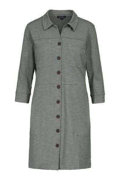 BUTTON FRONT CARGO DRESS