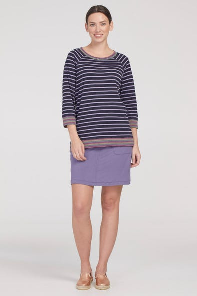 PULL- ON SKORT WITH POCKETS AND DRAWSTRING WAIST