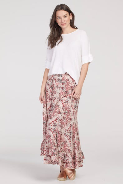 FLARED PULL ON SKIRT