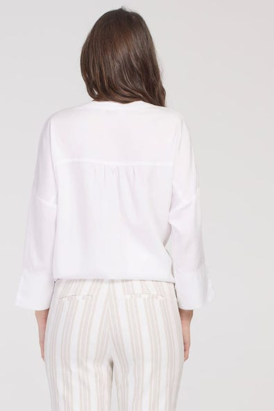 3/4 SLEEVE BLOUSE WITH SIDE TIE
