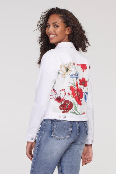 SOFT TOUCH JEAN JACKET WITH BACK PRINT