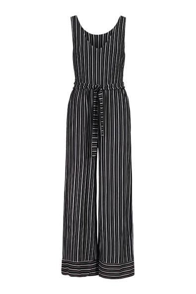 BELTED FRENCH TERRY JUMPSUIT