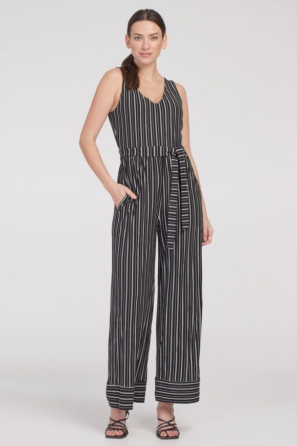 FRENCH TERRY JUMPSUIT WITH BELT