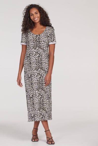 ANIMAL PRINT T-SHIRT DRESS