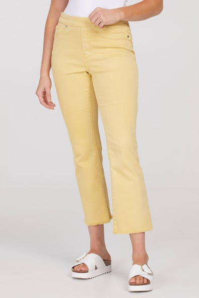 AUDREY PULL-ON STRAIGHT CROP JEANS