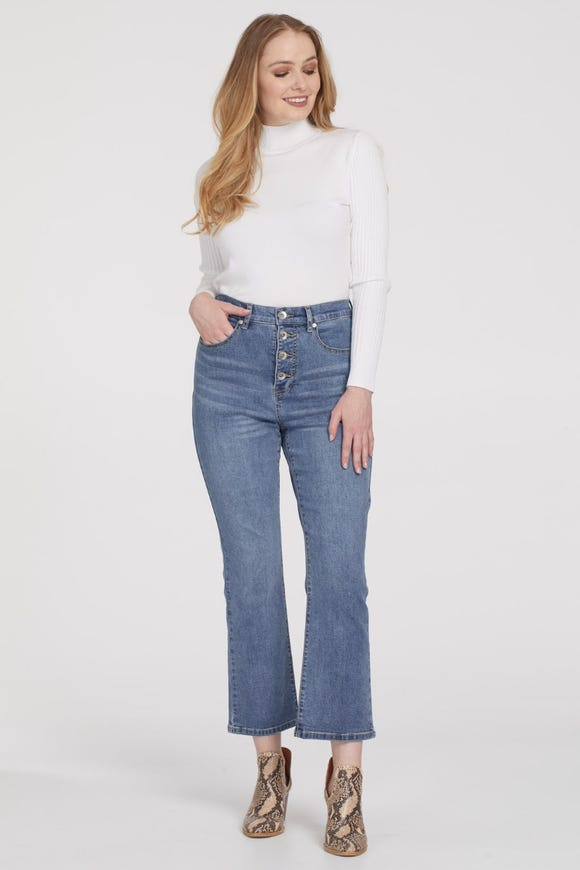 BROOKE HIGH RISE STRAIGHT CROP JEAN